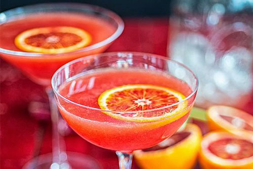 Blood Orange Breakfast Martini